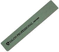 Пилки маникюрные SALON PROFESSIONAL (600/3000) для ногтей серые, широкие, полировочные