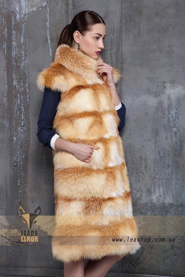 Полушубки из натурального меха лисы леашоп