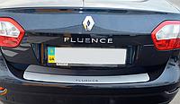 Накладка на бампер Renault Fluence 2010-