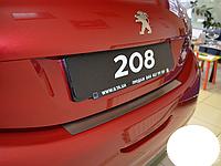 Накладка на бампер Peugeot   208 2013-