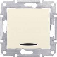 Выключатель1-клавіатури з підсвічуванням, слонова кістка - Schneider Electric Sedna (Код: SDN1400123)