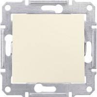Вимикач прохідний 1-клавішний, слонова кістка - Schneider Electric Sedna (Код: SDN0400123)