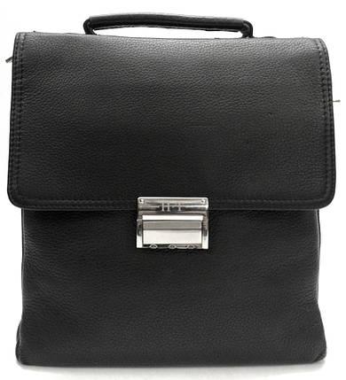 b419a3dca9ec Кожаная сумка-барсетка с кодовым замком HT 9010-8 черная купить в ...