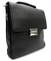 Эксклюзивная кожаная сумка черная с кодовым замком, фото 3