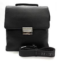 Эксклюзивная кожаная сумка черная с кодовым замком, фото 2