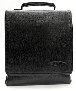 Качественная мужская кожаная сумка черная High Touch HT009010-71
