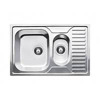Двухчашечная кухонная мойка из нержавеющей стали Fabiano  78x50x15 Microdecor