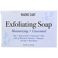 Madre Labs, Отшелушивающее мыло с маслом ши, марулы и таману, без запаха, 5 унций (141 г), фото 1