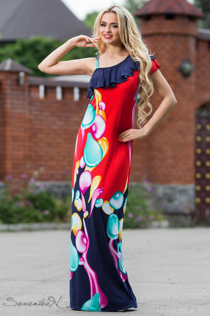 Стильное платье в пол  недорого