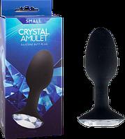 Анальная пробка Crystal Amulet Silicone Butt Plug Small