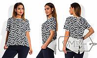 Ситльная шифоновая блуза-фрак батал .  Арт-8005/81