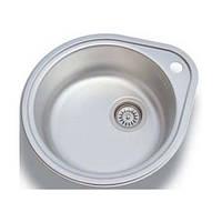 Круглая кухонная мойка из нержавеющей стали Fabiano 50x44 Microdecor