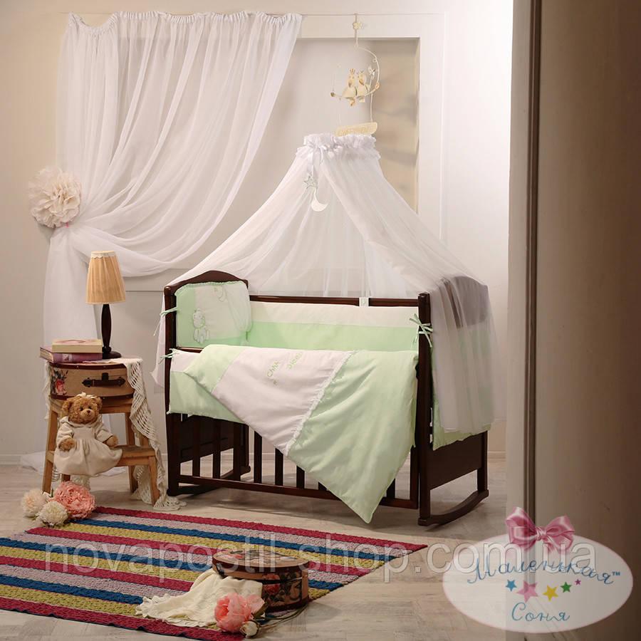Набор в детскую кроватку Darling зеленый (7 предметов)