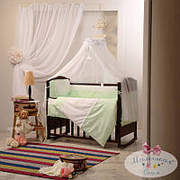 Набор в детскую кроватку Darling зеленый (7 предметов), фото 1