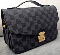 Сумка клатч Louis Vuitton черная через плечо