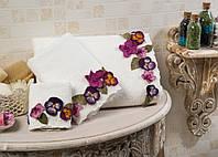 Полотенце махровое для лица и рук хлопок/бамбук Violet 30*50.