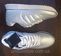 Серебристые кроссовки ZARA оригинал с Испании