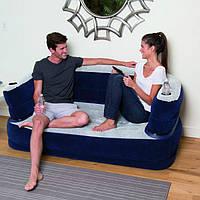 Надувной велюр диван Bestway 165х89х64 см