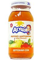 Сік фруктовий Агуша, 150 мл., яблуко-шипшина