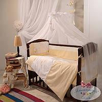 Набор в детскую кроватку Darling желтый (7 предметов), фото 1