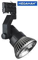 Трековый 3-фазный светильник Megatron Loft для ламп PAR38 черный