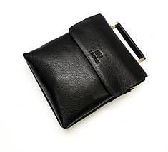 Мужская кожаная сумка из плотной кожи черная с ручкой (Италия) Lare Boss LB009923-41, фото 3