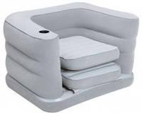 Надувное раскладное велюровое кресло Bestway 200х102х64 см
