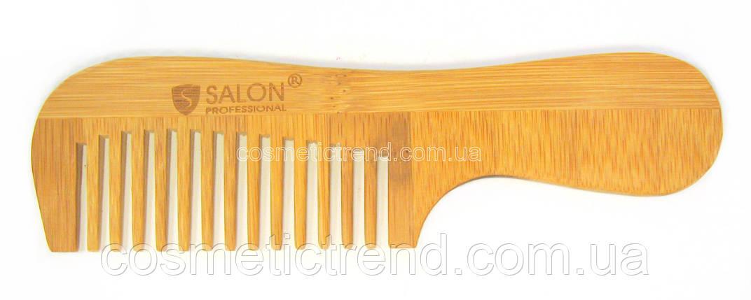 Расческа-гребень для волос деревянная с ручкой (15 зубцов)Salon Professional, фото 2