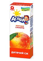 Сік фруктовий Агуша, 200 мл., яблучний з м'якоттю