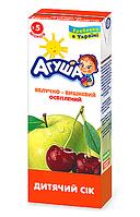 Сік фруктовий Агуша, 200 мл., яблуко-вишня