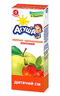 Сік фруктовий Агуша, 200 мл., яблуко-шипшина