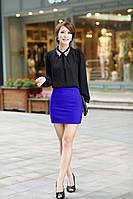 Модная ярко синяя (электрик)  МИНИ юбочка!, фото 1