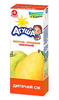 Сік фруктовий Агуша, 200 мл., яблуко-груша