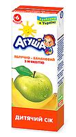 Сік фруктовий Агуша, 200 мл., яблуко-банан з м'якоттю