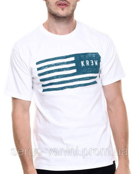 Мега Футболка мужская с принтом Sketch Flag KR3W