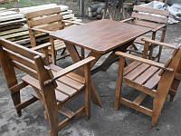 Комплект деревянной мебели (4 кресла и стол), для сада, для дачи, фото, цена, купить