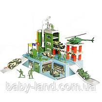 Гараж паркинг детский игровой набор Военная база с солдатиками 9886