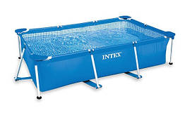 Прямоугольный каркасный бассейн (260х160х65см) Small Rectangular Frame Pools  Intex 28271