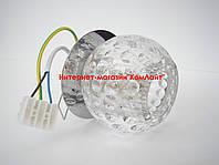 Точечный светильник встраиваемый CT-F 1939 цвет хром+прозрачное стекло G9