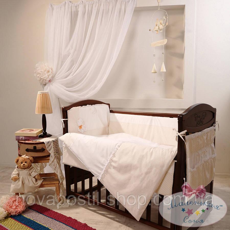 Набор в детскую кроватку Darling шоколадный (6 предметов)
