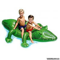 Детский надувной плот Intex 58562 крокодил 203-114 см