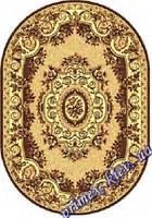 """Синтетический овальный ковер эконом-сегмента Gold Karat """"Цветочный сад"""", цвет коричневый"""