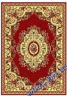 """Синтетический прямоугольный ковер эконом-сегмента Gold Karat """"Цветочный сад"""", цвет красный"""