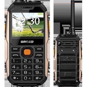 Противоударный телефон GRSED E8800 8800 мАч, Рация, Walkie Talkie, 2 SIM, мощный фонарь