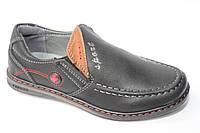 Туфли-мокасины школьные для подростков р31-36