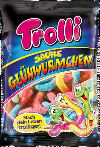 Желейные конфеты Trolli Saure Glühwürmchen  , 100 гр, фото 2