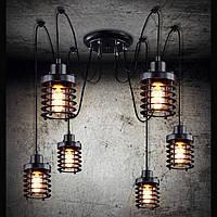 Светильник люстра Loft [ Spider Cleto E-6 ] (паук)