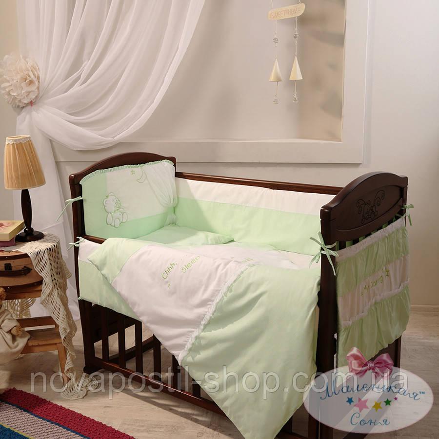 Набор в детскую кроватку Darling зеленый (6 предметов)