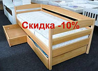 """Односпальная кровать """"Нота плюс"""" -10% из дерева ЩИТ"""
