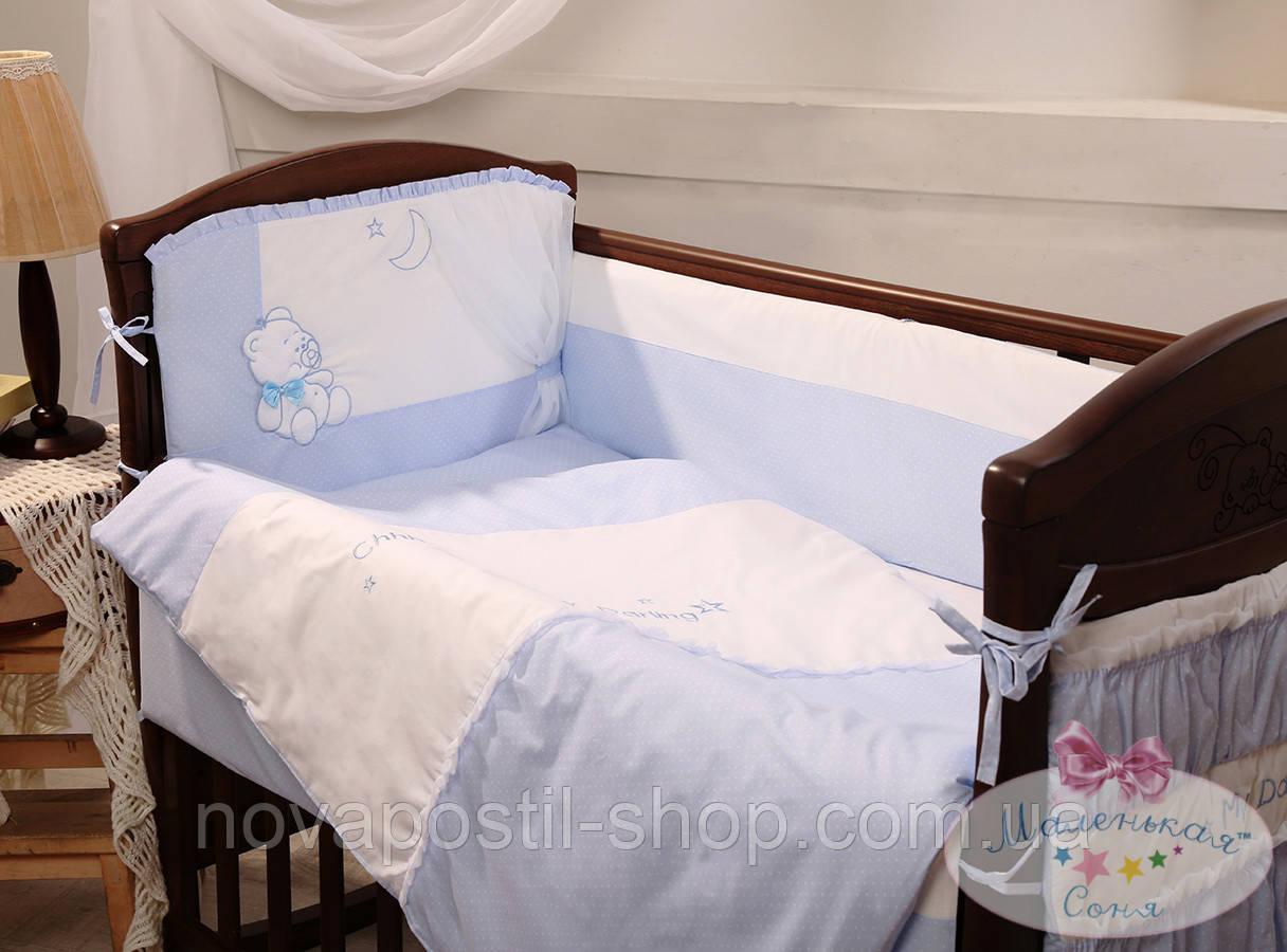 Набор в детскую кроватку Darling фиалковый (6 предметов)